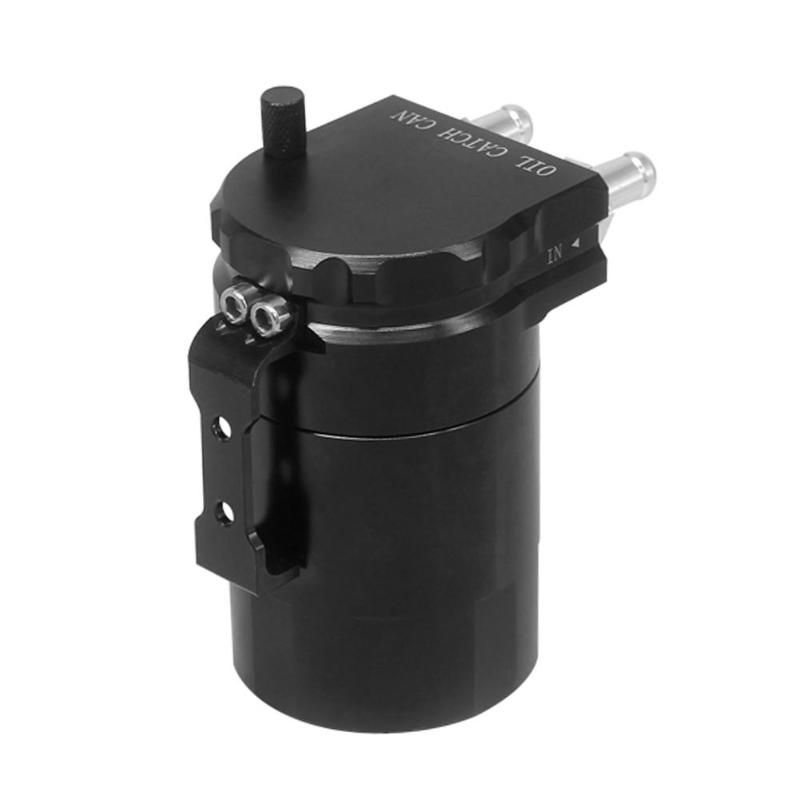 1Pcs Aluminum Baffled Oil Catch Can Tank Reservoir Breather w/ 10/14mm Fittings Oil Catch Tank Round Can Reservoir Turbo New airborne pollen allergy