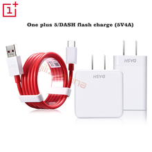 One Plus 5 / 6 Original Charger 5V/4A Dash Fast Charging EU US For OnePlus 1 2 3 3T 5T 6T Quick Charge Wall Power Adapter