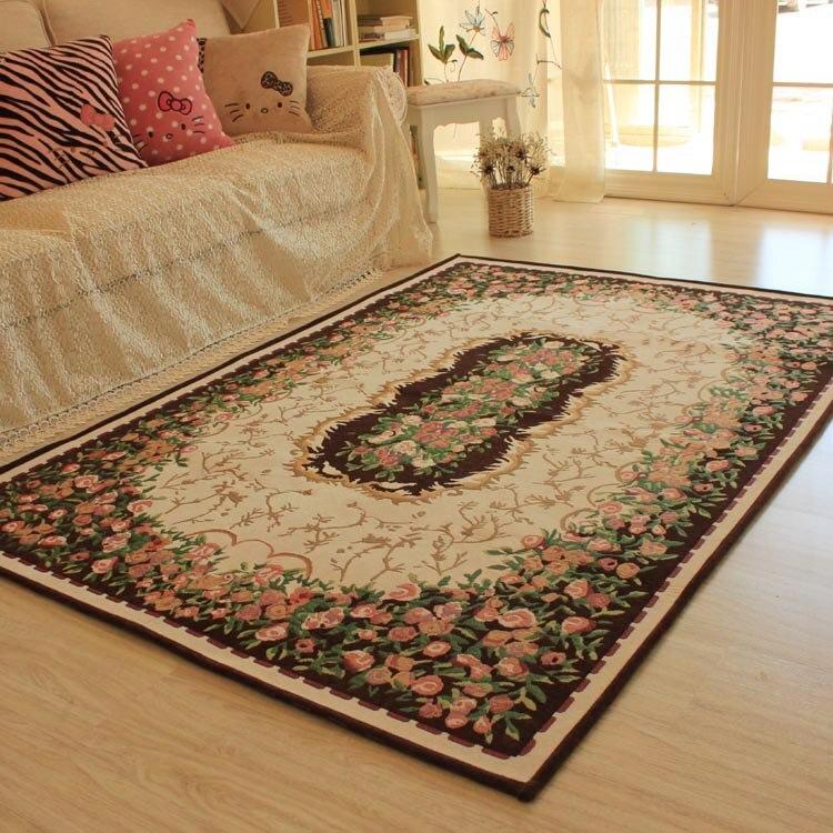 Tapis américains européens de salon de 190 cm * 130 cm, tapis de plancher de table basse, tapis pour le salon