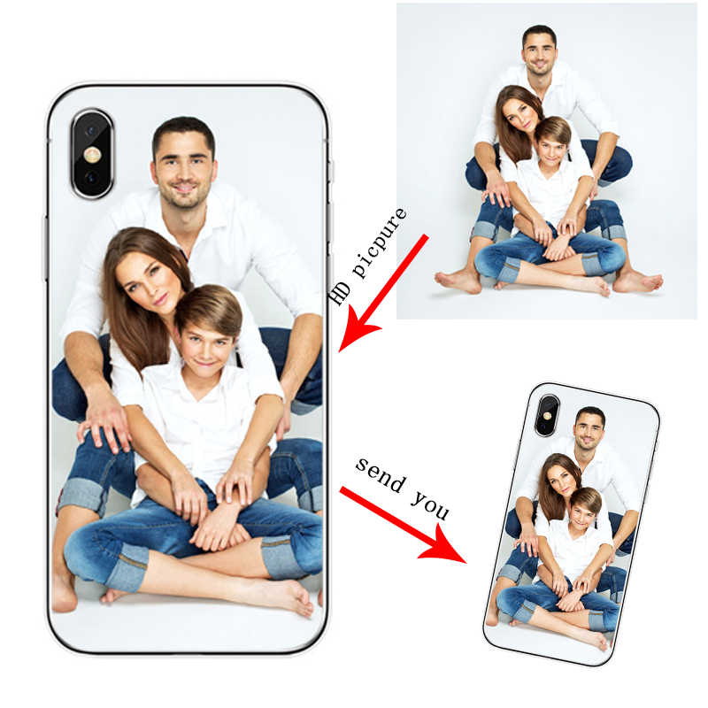 Soft Silicone TPU  Phone Case Customized Photo  For iPhone 5 5S SE 6 6 plus 7 8  plus For iPhone X XS XR Max 11 PRO  Max