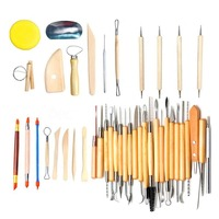 42Pcs Modeling Clay Pottery Sculpting Tools Carving Tool Set Carver Craft DIY