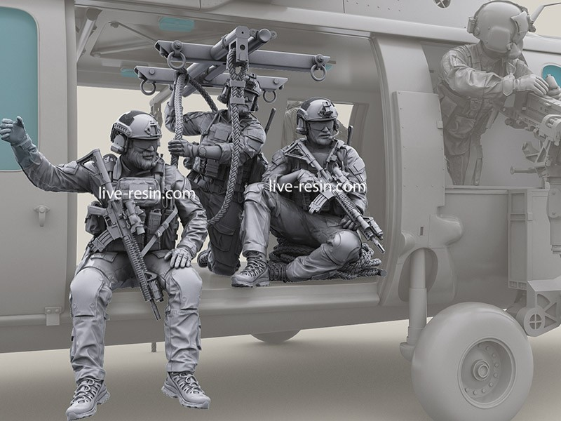 1:35 Resin Figure Soldiers Kit American Soldiers And Ropes  XD264D-1