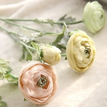 1 Pc Silk Flower for Wedding Party and Home Deco Lulian Tea Rose Artificial Simulated