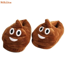 High quality Plush Slipper Expression Men And Women Slippers Winter House Shoes one size