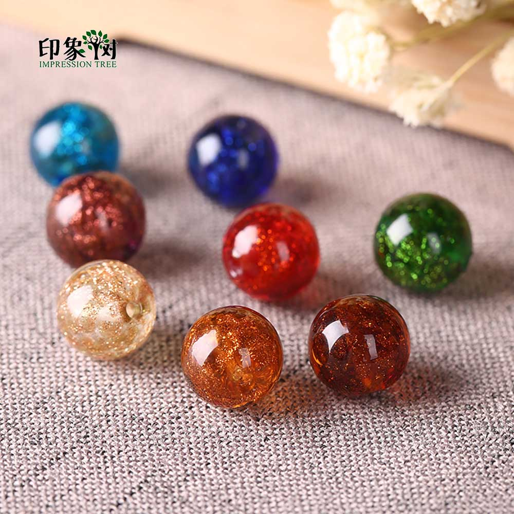 Jewelry & Accessories Radient 12mm 10pcs Sands Powder Handmade Lampwork Glazed Beads Transparent Japanese Crystal Round Spacer Beads Diy Jewelry Makings 1604
