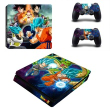 Dragon Ball Super Son Goku PS4 Slim Skin Sticker Decal Vinyl for Playstation 4 Console and 2 Controllers PS4 Slim Skin Sticker