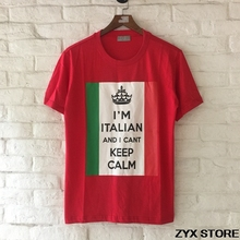 I'm Italian I Can't Keep Calm print women men t shirt fashion brand outwear short sleeve cotton t shirts tee