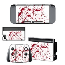 Nintend Switch Vinyl Skins Sticker For Nintendo Console and Controller Skin Set - Red Blood