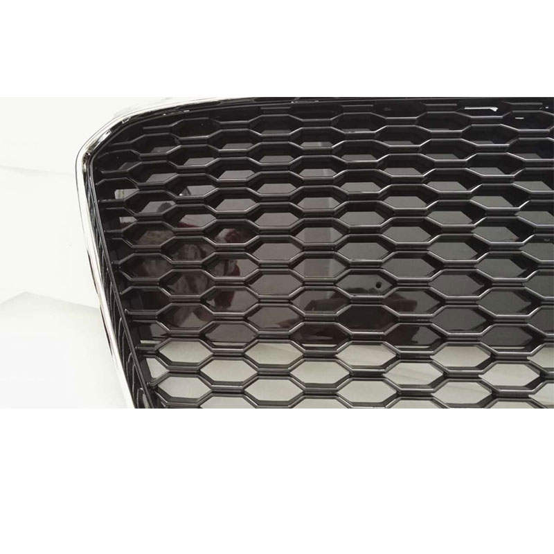 Auto styling R8 RS Style chroom Frame zwart Front Grill Grille Voor - Auto-onderdelen - Foto 3