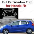 Хит! Для Honda Fit автомобильный Стайлинг яркие Серебристые декоративные полосы из нержавеющей стали с полной отделкой окна автомобиля