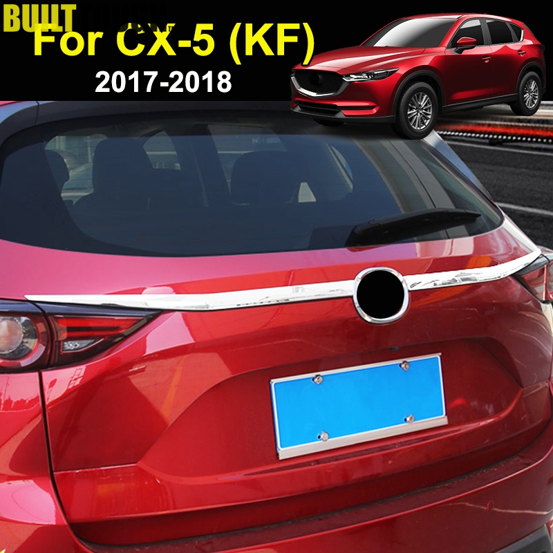 For Mazda Cx-5 Cx5 2nd Gen KF 2017-2019 Chrome Rear Trunk Lid Cover Tailgate Boot Back Door Trim Molding Garnish Strip Protector(China)