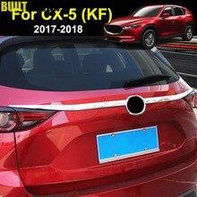 Für Mazda Cx-5 Cx5 2nd Gen KF 2017-2019 Chrom Kofferraum Abdeckung Heckklappe Boot Zurück Tür Trim form Garnieren Streifen Protector