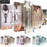 Zhui Star 5d Diy Diamond Embroidery Home Sweet Home Diamond Painting Cross Stitch Full Drill Rhinestone