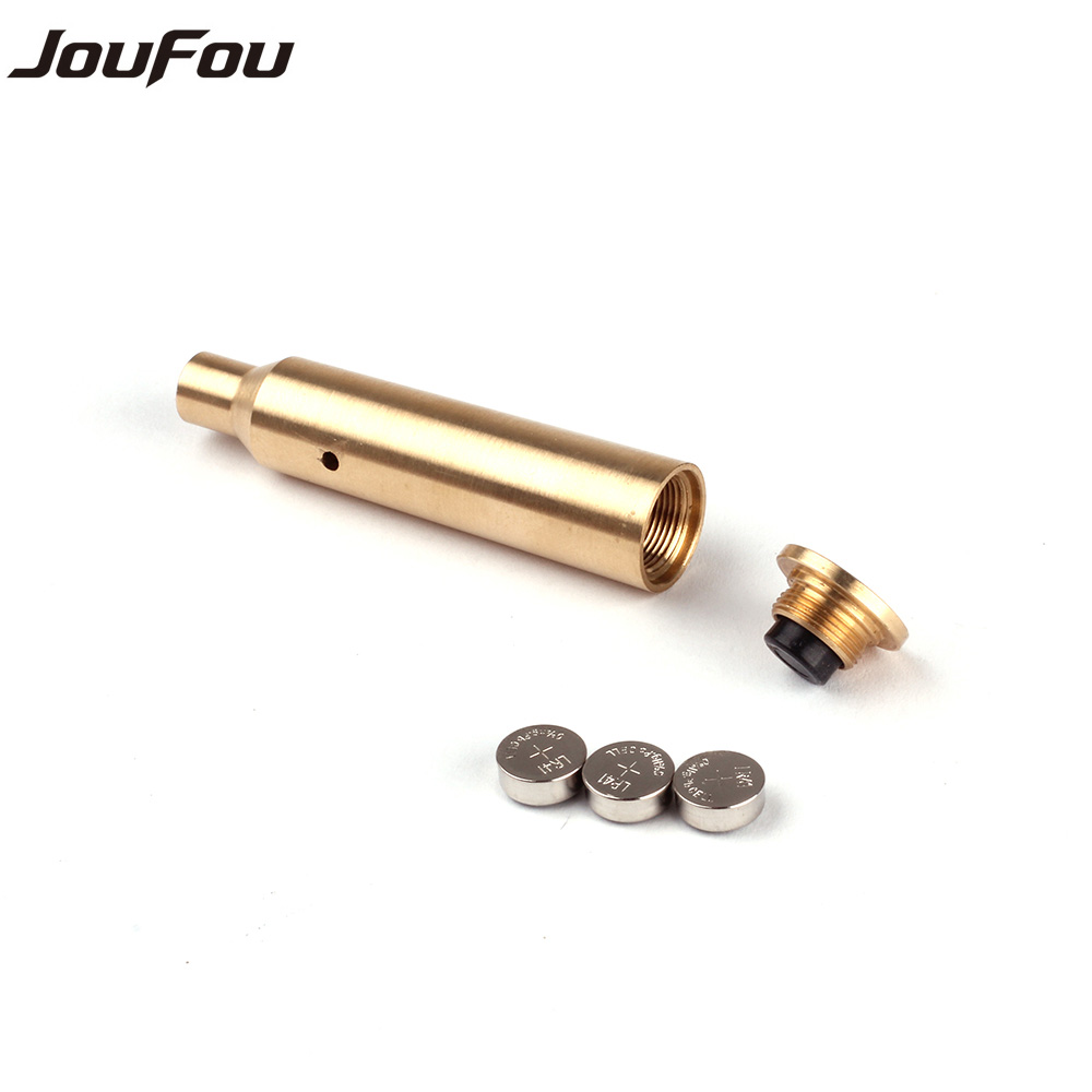 JouFou font b Hunting b font Rifle Scope Boresighter Collimator CAL 7x57R Cartridge Calibration Instrument Red