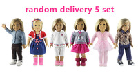 5 Set Doll Clothes For 18 American Girl Doll Handmade Casual Wear Outfit