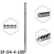 Вольфрамовые стальные концевые фрезы 5 шт/стандартные для алюминиевых