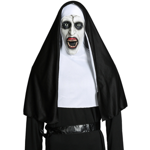 Image 2 - Movie The Nun Cosplay Valak Costume Virgin Mary Monja Deluxe Scary Costumes For Men Women Halloween Party