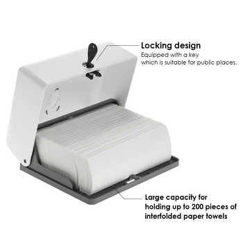 Wall mounted Tissue Box Holder Kitchen Paper Holder Bathroom Tissue Dispenser Kitchen Paper Towel Dispenser Toilet Paper holder