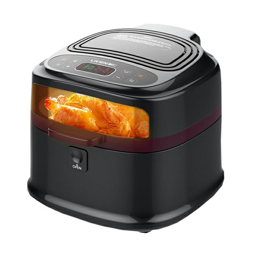 Ménage friteuse à air pulsé s Frites Machine Multifonction Sans Huile friteuse électrique 8L Noir Intelligent Freidora Péché Aceite Alimentaire friteuse à air pulsé