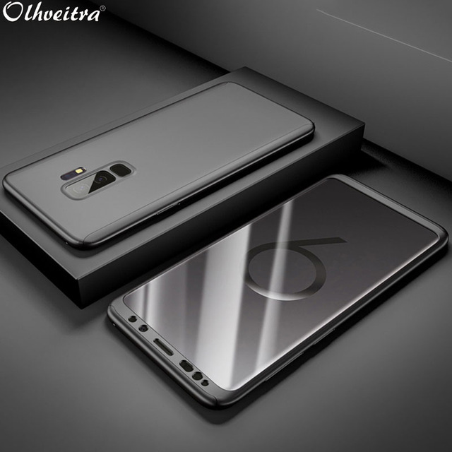 timeless design 5047d e9491 US $2.39 33% OFF|360 Full Coverage Bag For Samsung A6 Plus 2018 Cover Phone  Cases Case Accessories + Tempered Film For Samsung Galaxy A6 2018-in ...