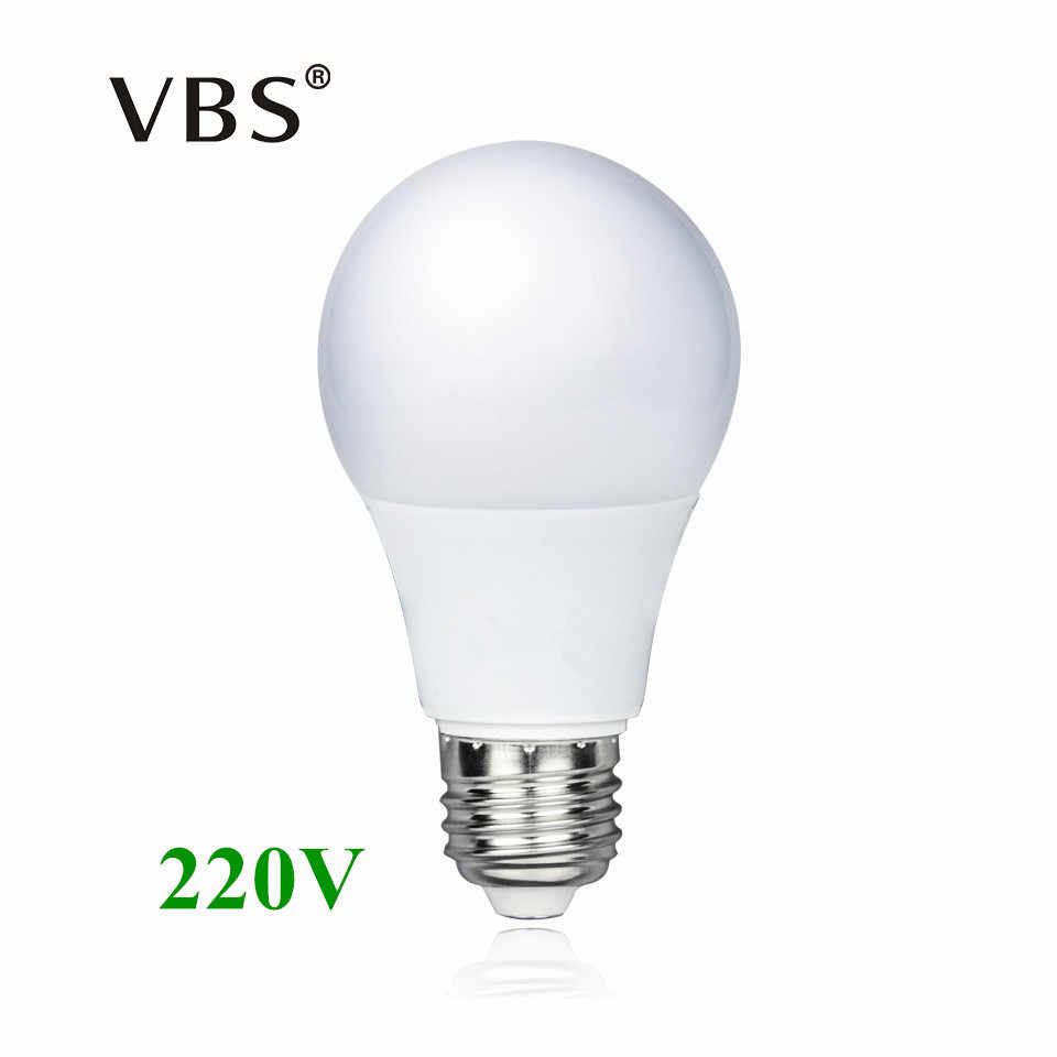 E27 LED Bulb 220V 3W 5W 7W 9W 12W 15W Real Power Energy Saving Aluminium Led lamp 2835smd lampadine led e27 Smart IC No Flicker
