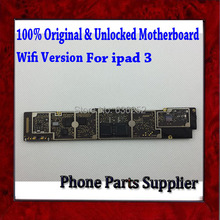 Wifi Version High Quality Unlocked Original Mainboard For ipad 3 Motherboard with Chips,Good Working by Singapore Post Shipping