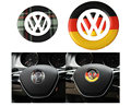 car styling German flag Scottish steering wheel Logo stickers For Volkswagen VW Tiguan Touran Golf 6 7 CC POLO Sagitar Scirocco
