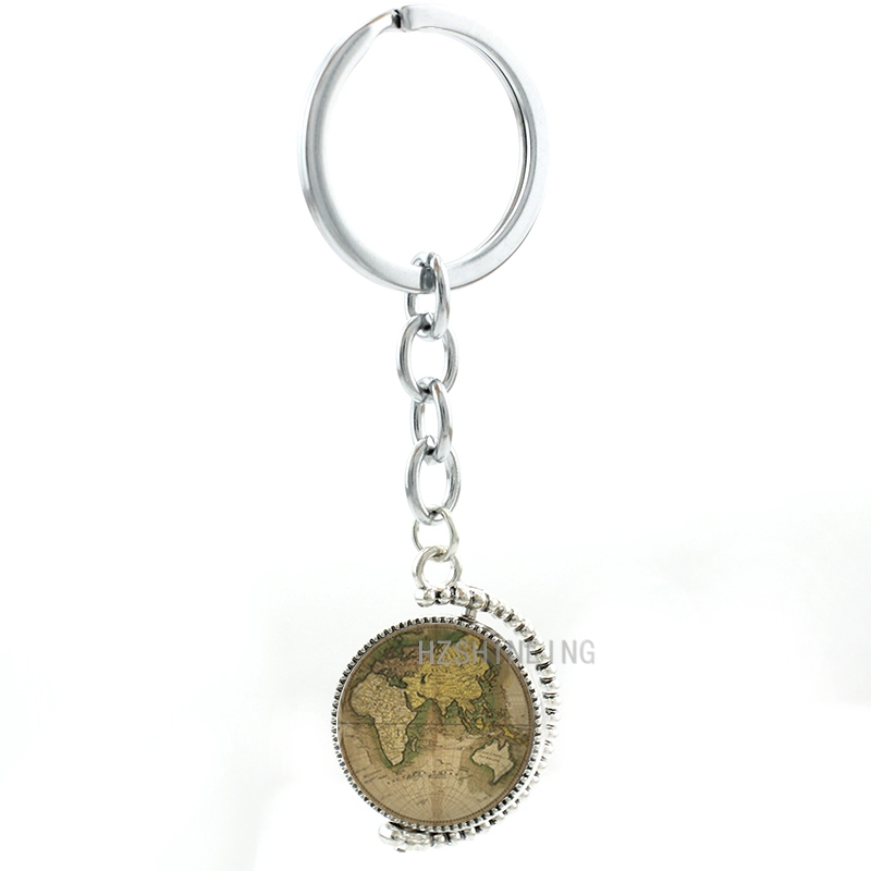 Double sides rotatable vintage world map keychain fashion double sides rotatable vintage world map keychain fashion intercontinental map geek men women key chain ring holder jewelry mp30 in key chains from jewelry gumiabroncs Image collections