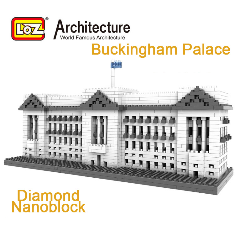 LOZ Nanoblock World Famous Architecture Buckingham Palace London England United Kingdom Mini Diamond Building Block Model Toys loz world famous architecture nanoblock daming palace china city mini diamond building block model educational toys for kids
