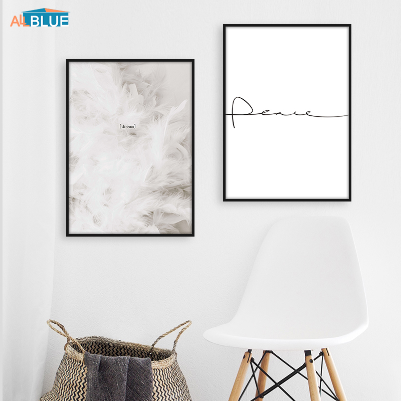 Canvas Posters Art-Painting Motivational Nordic-Decoration Peace Minimalist Wall Prints
