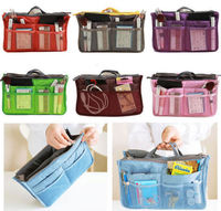 Women Organizer Handbag Travel Bag Insert Liner Purse Organiser Large Tidy Pouch Makeup Tool Kit
