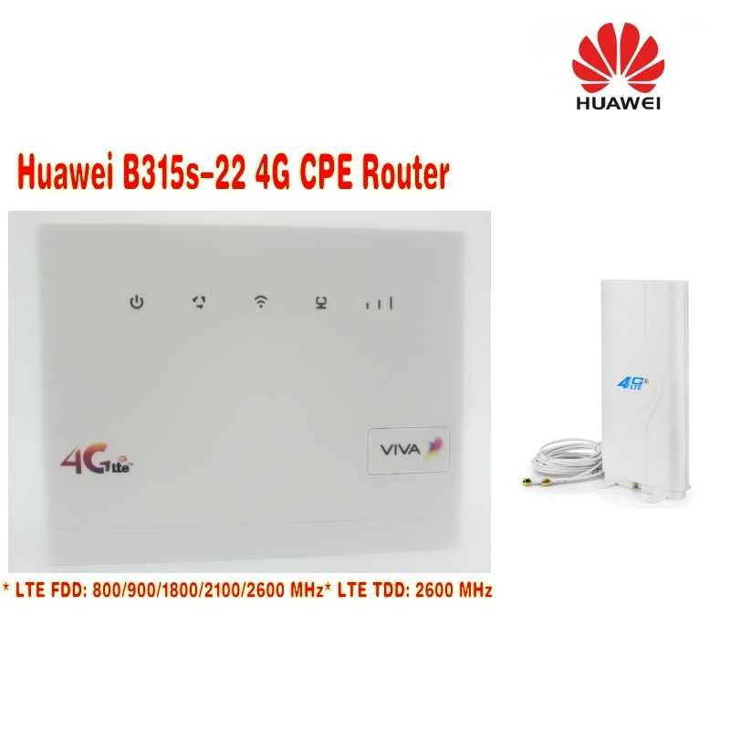 Unlocked HUAWEI B315 B315S-22 LTE CPE 150Mbps(plus antenna) 4G LTE FDD TDD wireless gateway wifi Router with sim card slot