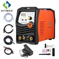 HITBOX Tig Arc сварщик Алюминий сварки ACDC 220 V TIG200P инвертор сварочное оборудование функциональные длинные расстояние управление сварочный аппара