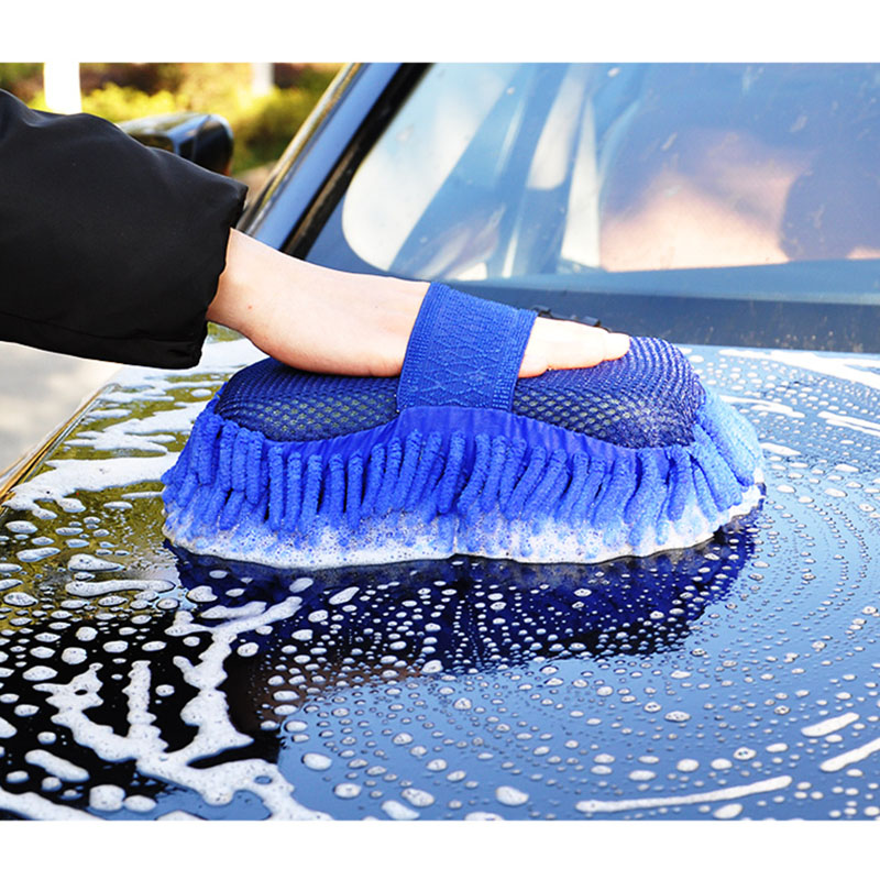 1PCS Car Cleaning Brush Tool Microfiber Clean Large Special Plush Cleaning Car Gloves Car Wash Sponge Towel Absorbent Thickening