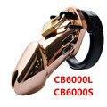 Primero Se Levantó Oro Diseñador Masculino CB6000S CB6000 Dispositivo de Castidad Castidad Jaula de lujo y luxurish Estándar con 5 Anillos Del Pene G208