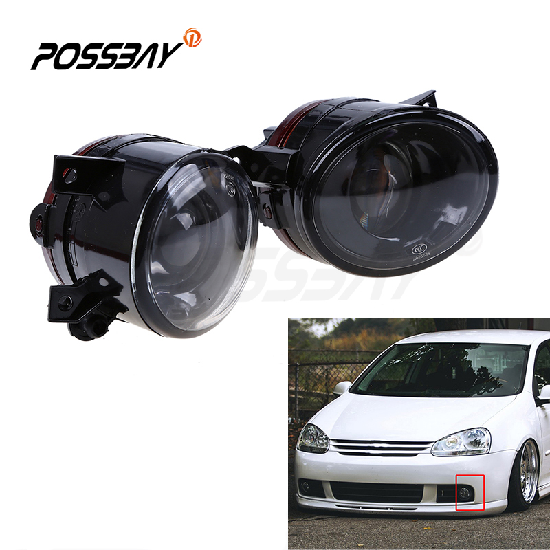 Left&Right Side Front Bumper Grille Fog Lamp Running Light For Volkswagen Golf5 Car Styling Accessories Yellow Lighting 1pair auto car front bumper grille fog light lamp with switch kit for mitsubish lancer 08 13 lights car styling