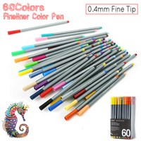 60 Colors Set 0 4 MM Fine Liner Gel Pens Sketch Drawing Color Pen Art Markers