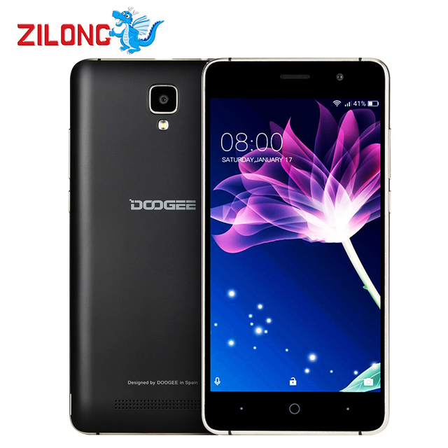 Doogee X10 Smartphone 5.0 Inch MTK6570 Dual Core Android 6.0 512MB RAM 8GB ROM 5MP Cam 3360mAh Battery Metal Frame GPS Wifi