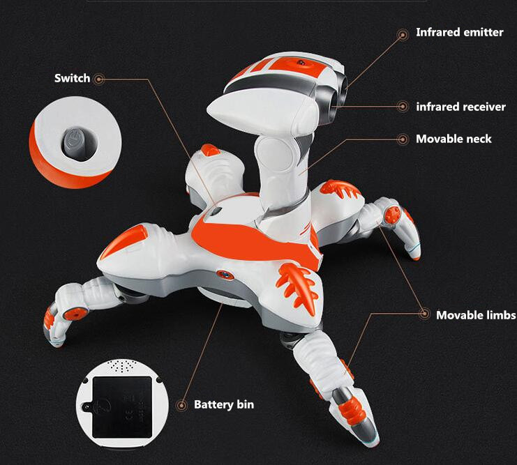 Kids toy Space dancing robot LZ444 Lightweight Electronics Creative infrared electric music rotating light remote control robot - 3