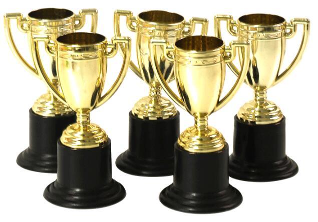 Good Baby Rewarded 10pcs Golden Cups Trophy Sports Winner Educational Props Kids Reward Prizes Toysramadan Festival Gift Model Building Kits