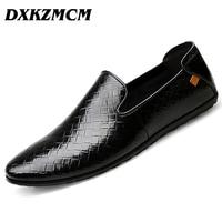 DXKZMCM Man Moccasin Breathable Men S Loafers Designer Flat Soft Leather Shoe Fashion Men S Casual