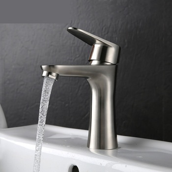 304 stainless steel basin faucet hot and cold health waistline wash basin single Kong Longtou