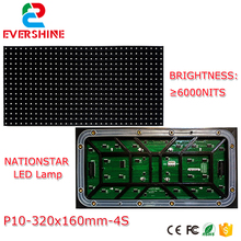 Full color Outdoor LED display module,P10 320x160mm, 32*16 Pixels