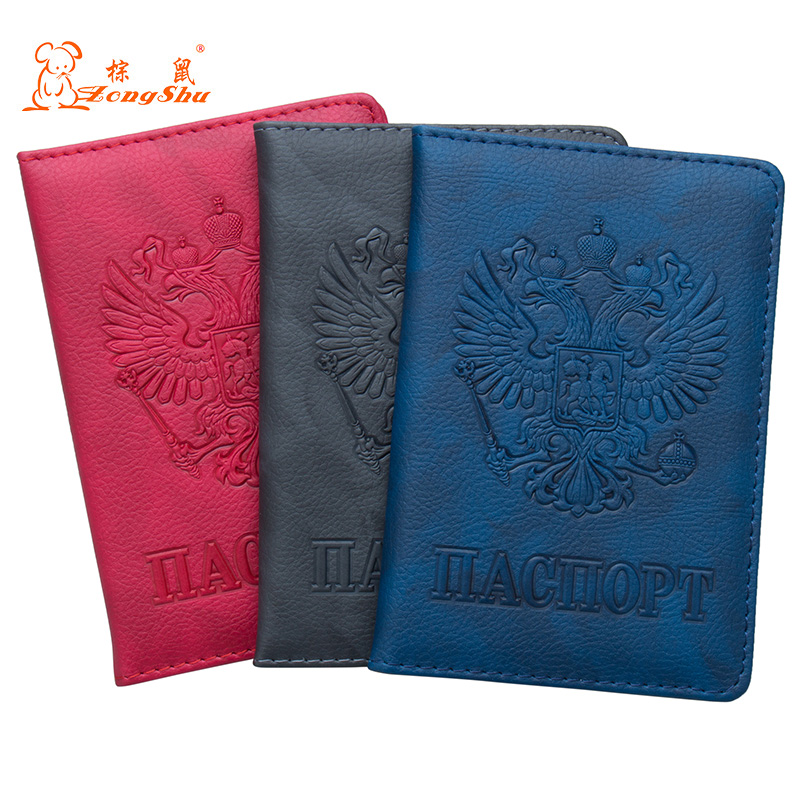 Back To Search Resultsluggage & Bags Provided 2018 Usa Complex Gray Double-headed Eagle Pu Leather Travel Passport Holder Built In Rfid Blocking Protect Personal Information For Sale
