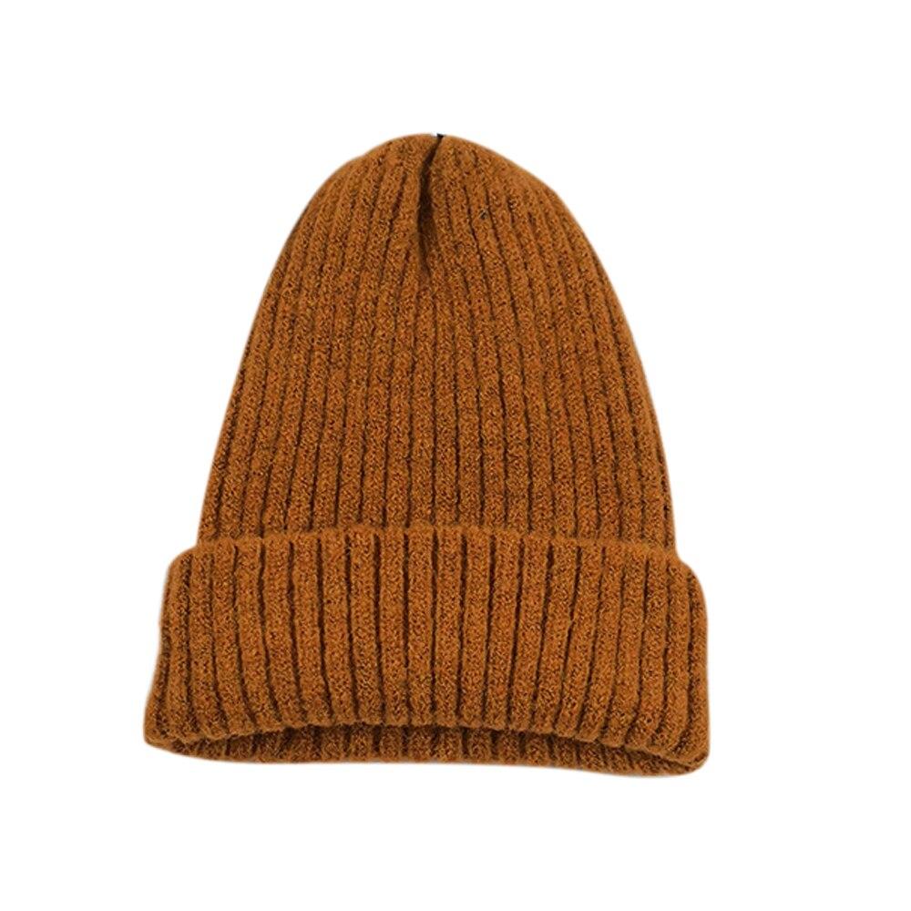 Вязаная шапка Повседневная Удобная зимняя унисекс игровая вязаная шапка - Цвет: Dark orange