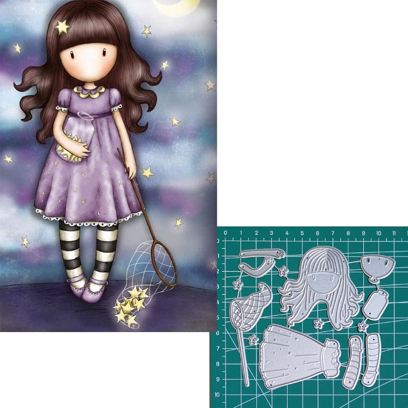 Catch the stars new 2019metal cutting dies doll girls for scrapbooking and making paper for cards in Cutting Dies from Home Garden