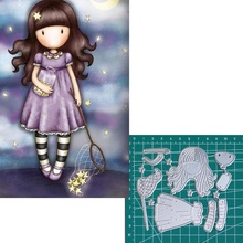 Catch the stars new 2019metal cutting dies doll girls for scrapbooking and making paper cards