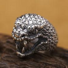 Винтажное кольцо из тибетского серебра 925 пробы настоящее серебряное