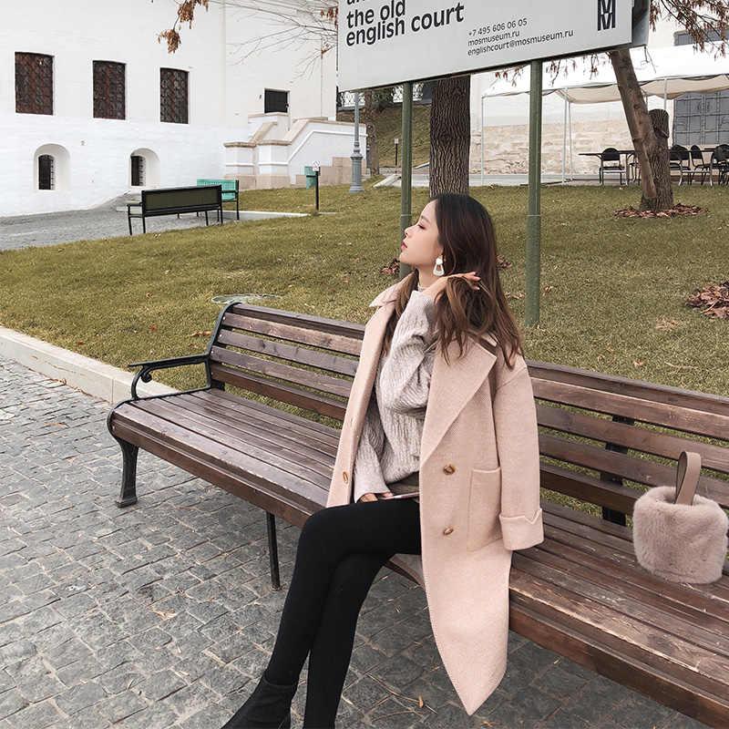 MISHOW 2019 осенне-зимнее шерстяное пальто женский темперамент женское популярное шерстяное пальто MX18D9662