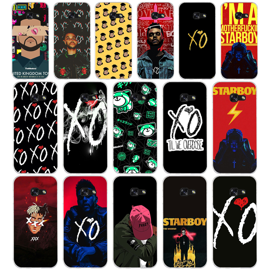 <font><b>90</b></font> New The Weeknd Starboy Pop Singer TPU Soft Silicone Case For Samsung Galaxy A3 A5 <font><b>2016</b></font> 2017 A6 A8 A7 2018 Cover Capa Capinha image